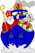 Intocht Sinterklaas en afsluiting fietsbrug